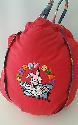 FLOPPY SEAT Red Shopping Cart Cover With Carry Stuff Bag Animals Dinosaurs Vtg