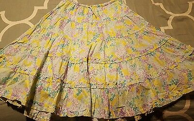 Girls 8 L.L. Bean Tiered Floral Skirt, Very Cute! EUC