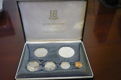1974 Coinage Of The British Virgin Islands - 6 Coin Proof Set