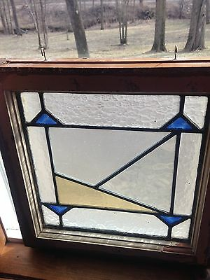 Antique Victorian Leaded Stained Glass Transom Windows X 3