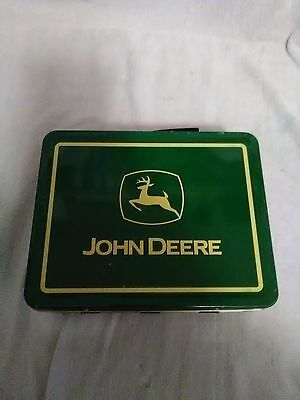 John Deere Tin Lunch Box...good Condition...nice Decorating Item