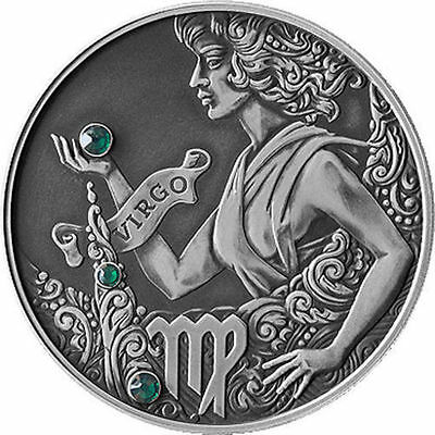 Belarus 2014 20 rubles Virgo Signs of the zodiac Antique finish Silver Coin