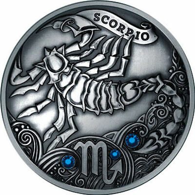 Belarus 2013 20 rubles Scorpio Signs of the zodiac Antique finish Silver Coin