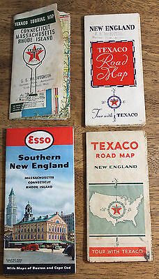 New England Service Station Maps Texaco Esso 1930s 1940s 1950s