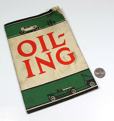 1926 Sinclair Refining Company Advertising Promotional Booklet Oiling