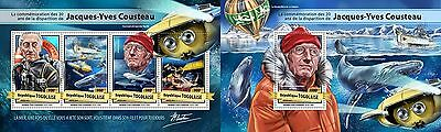 Z08 TG17118ab TOGO 2017 Jacques-Yves Cousteau MNH Mint Set