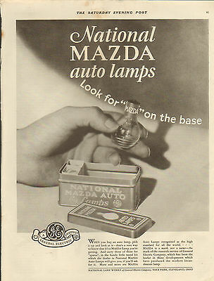 1927 National Mazda Auto Lamps-car assessories ad -/489
