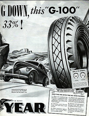 1939 Goodyear tire ad car assessory ad --2 page centerfold ad -0-9