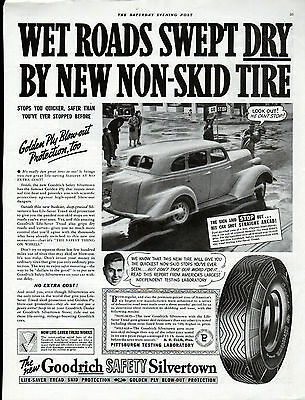 1938 Goodrich Tire ad --Silverton Skid,Blow out protection -0-5