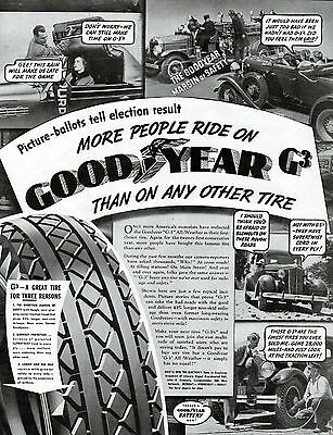 1930's Goodyear Tire ad-Car assessory ad -G-# tire -0-10