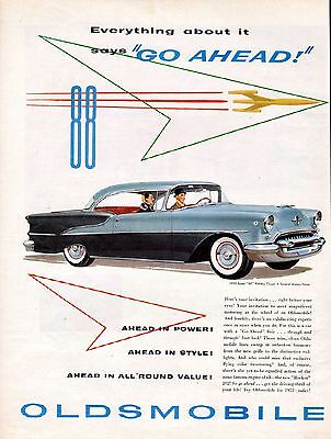 1955  Oldsmobile Car ad --Super 88 Holiday Coupe-----z62