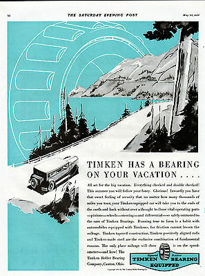 1931 Timken Roller Bearings car ad -82 year old ad---937