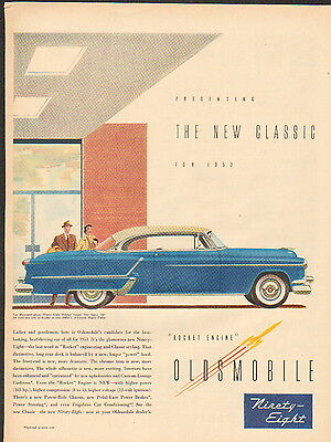 1953 Oldsmobile car ad 98 Holiday Coupe-/865