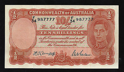 1942  (ND) Commonwealth Of Australia, 10 Shilling Note, P-10b