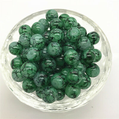 DIY 100 Pcs 4mm Round Pearl Loose Beads Double Colors Glass Jewelry Making #27
