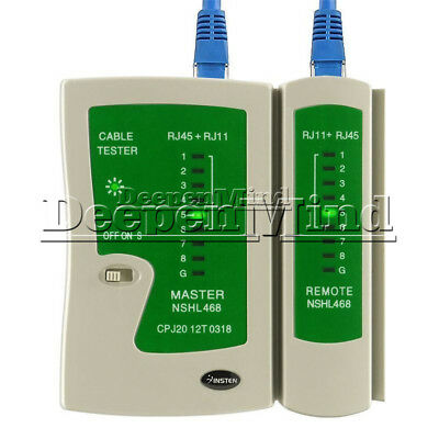 RJ45 RJ11 Cat5e Cat6 UTP Network Lan USB Cable Tester Data Remote Test Tool New