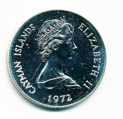 1972 Cayman Islands Proof $.50 Silver Coin (Caribbean Emperor Fish), Km#5