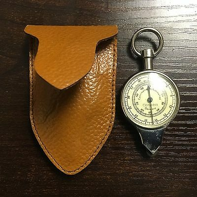 Nice Vintage Map Compass Made In Germany With Leather Case