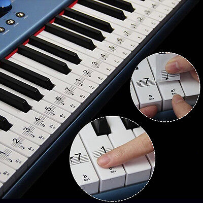 Keyboard/Piano Note Stickers SET up to 61 KEYS The Best Way To Learn Piano