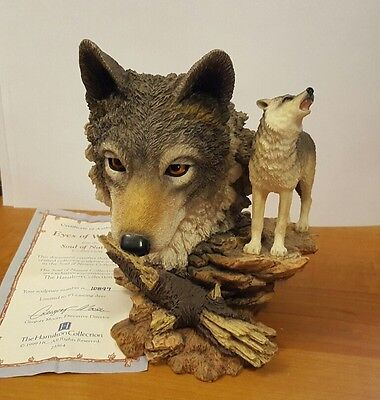 "1999 Hamilton Collection ""Eyes of Wisdom"" Wolf Figurine"