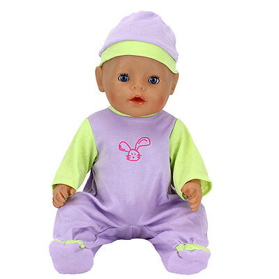 Purple Jumpsuit clothes Wearfor 43cm Baby Born zapf (only sell clothes)