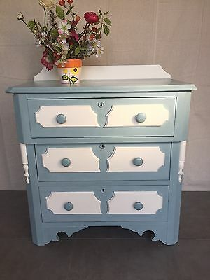 Antique Mahogany Painted Dresser Washstand