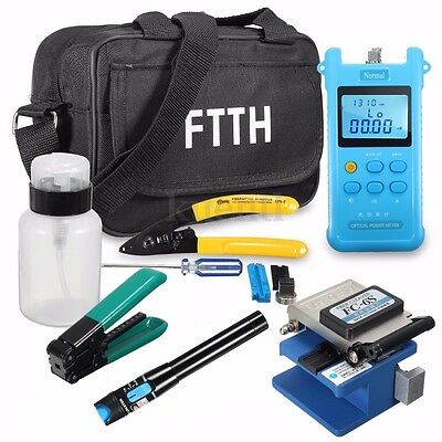 Fiber Optic FTTH Tool Kit FC-6S Fiber Cutter Power Meter Visual Fault Locator