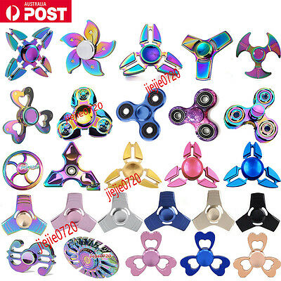 Hand Spinner EDC Tri-Spinner Fidget Spinner Finger Focus Spinner Toy For Kids AU