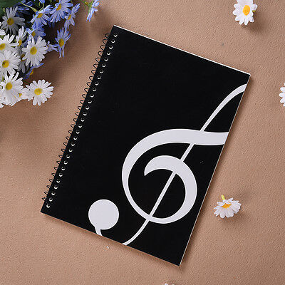 HOT Blank Music Manuscript Writing Paper Book - Staff Notebook Black A4 50 Pages