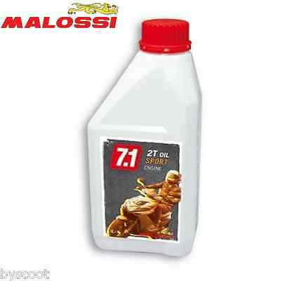 Huile 2T scooter MALOSSI 7.1 Oil 2 Temps scoot moto 1 litre synthesis MBK NEUF