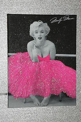 Marilyn Monroe Pink Dress, Glitter. Framed or Canvas! Any Size :)