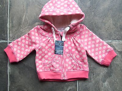 BNWT Baby Girl's Pumpkin Patch Coral Pink Fleecy Hoodie//Hooded Jacket Size 000