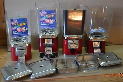 Gumball/candy Machine Parts And Pieces Lot