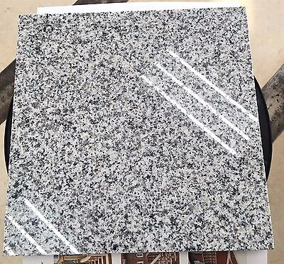 Natural Stone Granite Tile - Sesame White 12''x12''x3/8'' (Polished)