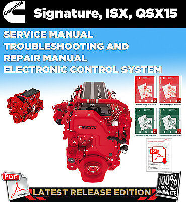 CUMMINS Signature ISX QSX15 Service Manual, Troubleshooting & Repair Manual