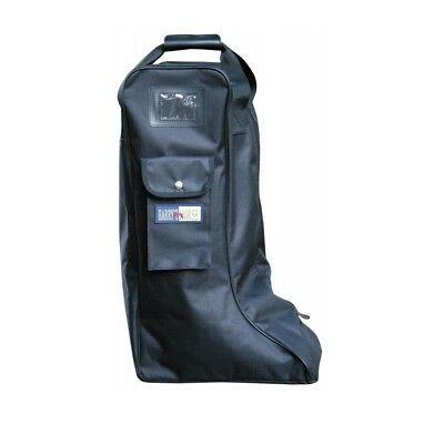 black Boot bag, Bag for Riding Boots, Leather Riding boots boots