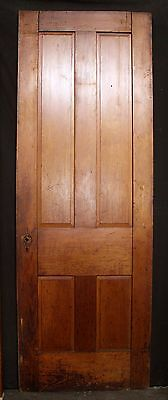 "32""x90"" Antique Vintage Victorian Solid Wood Wooden Interior Door 4 Raised Panel"