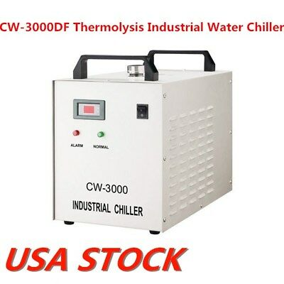 US Stock CW-3000DF Industrial Water Chiller for 0.8KW / 1.5KW Spindle Cool 110V