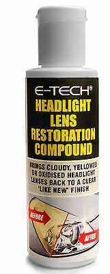 E-Tech Headlight Lamps & Tail Lights Clear Clarity Lens Restoration Compound Wax