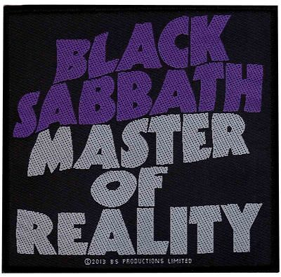 Black Sabbath Master Of Reality 2013  - WOVEN SEW ON PATCH - free shipping