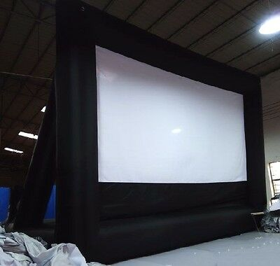 Inflatable Movie Screen Rear Projection Cinema Outdoor 20 X 13 Ft. Air Blower