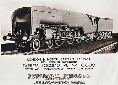 RARE Orig Photo - 1929 London & North Eastern Railway Express Locomotive RR Hush