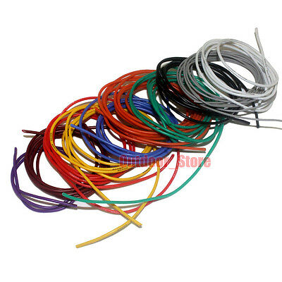 30~20AWG Tinned OFC Copper Flexible Soft Silicone Wire RC Cable (10 Color) lot