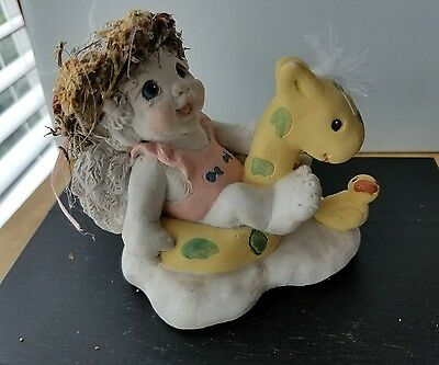 Dreamsicles Pool Pals July Cherub DC186, 1993 Cast Art, Calendar Collection