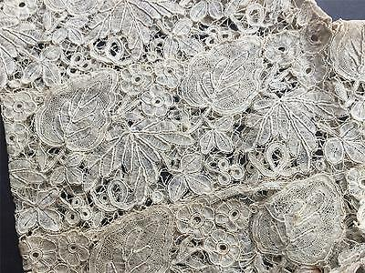 ANTIQUE C.1910  Handmad French Honiton Lace Sleeves VC8