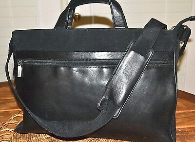 HOBO INTERNATIONAL Leather Nylon Shoulder Tote Bag Messenger Satchel Briefcase