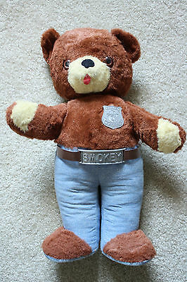Smokey the Bear plush knickerbocker made in USA vintage