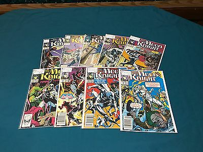 Marvel Comics Moon Knight Lot Of 9 #2-10 Complete VF/NM