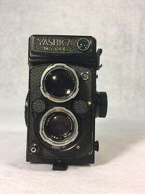 Yashica MAT-124G TLR Twin Lens Reflex Film Camera With Lens Cover