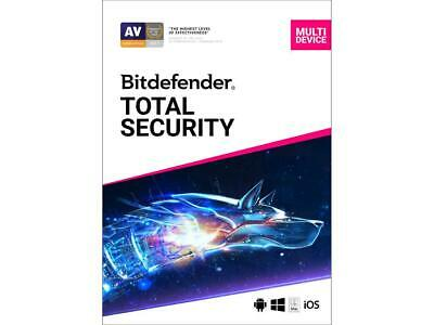 Bitdefender Total Security Multi-Device 2020 5-Devices PC/MAC/Android/iOS